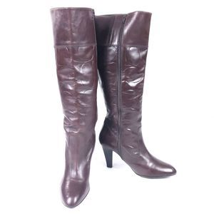Coach Millie Chestnut Leather C Logo embossed Boot